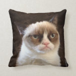 "Grumpy Cat Brown Pillow<br><div class=""desc"">Grumpy Cat Brown Pillow</div>"