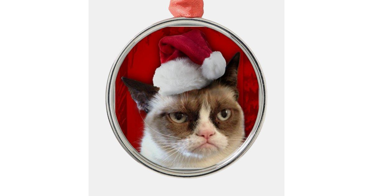 Grumpy Cat Christmas Ornament Zazzle Com