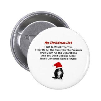 Grumpy Cat Christmas Pin Button