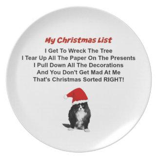 Grumpy Cat Christmas Plate