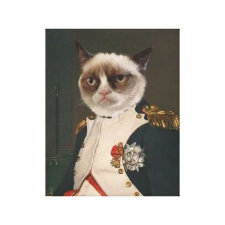 Grumpy Cat Classic Painting Gallery Wrapped Canvas