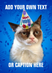 Grumpy cat cards greeting photo cards zazzle grumpy cat customizeable happy birthday card bookmarktalkfo Image collections