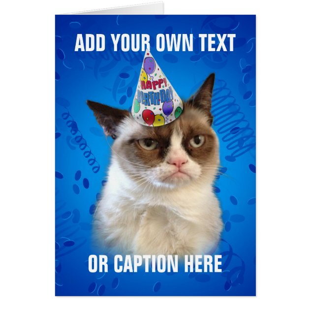 grumpy_cat_customizeable_happy_birthday_card r034174ee3b234508b11ac0fd2b4db877_xvuat_8byvr_630?view_padding=%5B285%2C0%2C285%2C0%5D official grumpy cat merchandise on zazzle designs & collections on