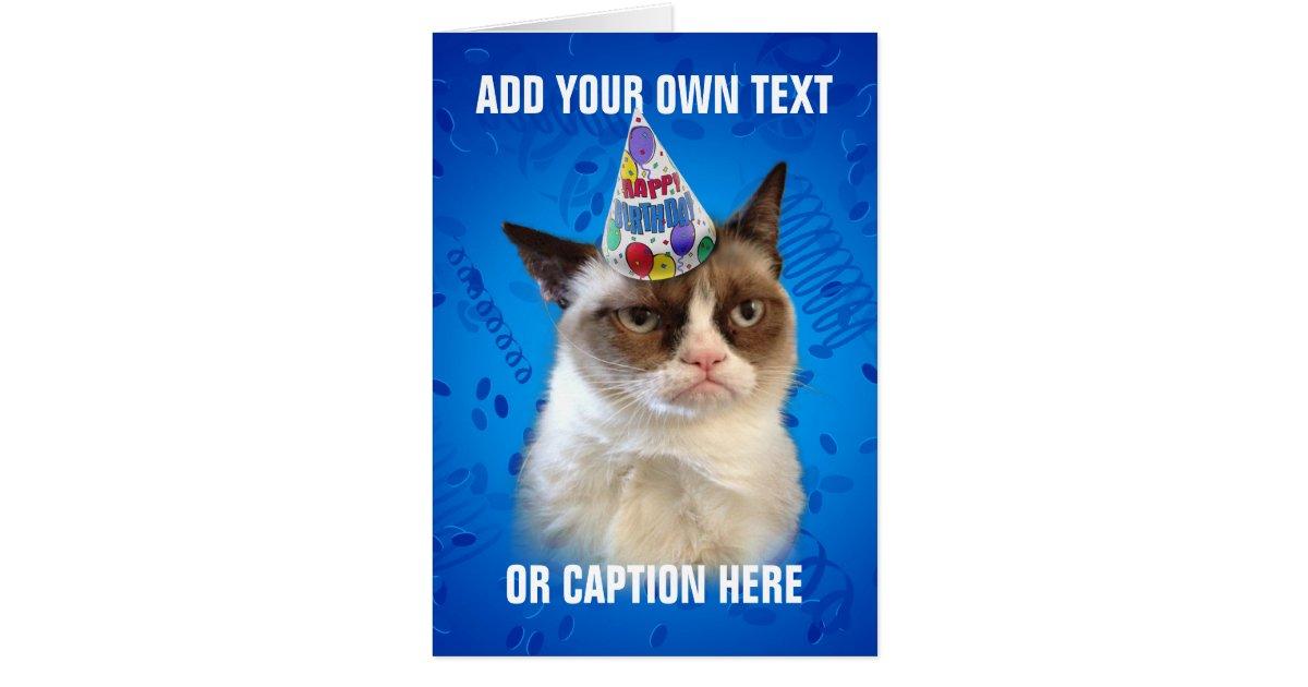Grumpy Cat Customizeable Happy Birthday Card