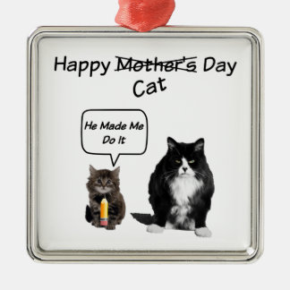 Grumpy Cat / Cute Kitten Mother's Day Ornament