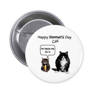 Grumpy Cat / Cute Kitten Mother's Day Pin Button