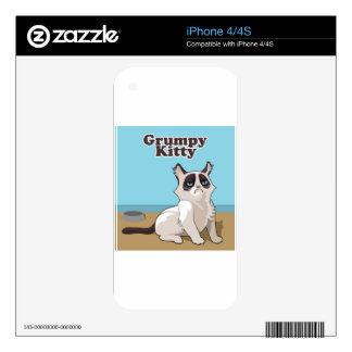 Grumpy cat decal for the iPhone 4