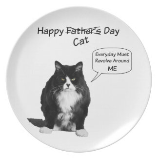 Grumpy Cat Father's Day Plate