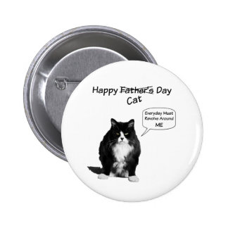 Grumpy Cat Father's Day Round Pin Button