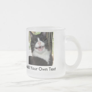 Grumpy Cat Frosted Glass Coffee Mug