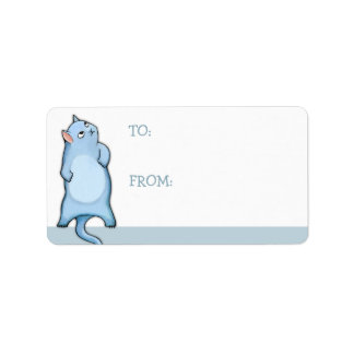 Grumpy Cat George Gift Tag Sticker Labels