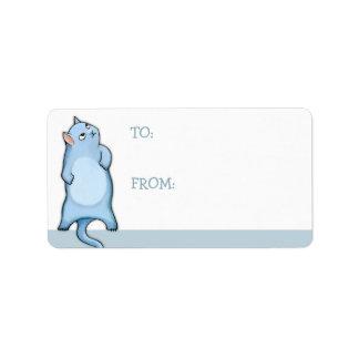 Grumpy Cat George Gift Tag Sticker Label