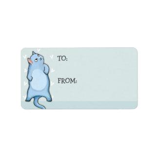 Grumpy Cat George green Gift Tag Sticker Label