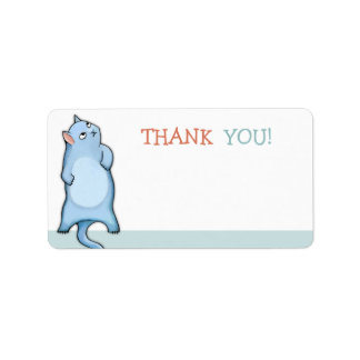 Grumpy Cat George green Thank You Sticker Label