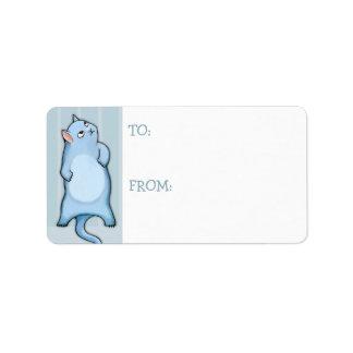 Grumpy Cat George stripes Gift Tag Sticker Label