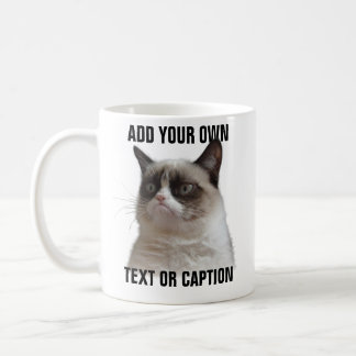 grumpy_cat_glare_add_your_own_text_coffee_mug rd3558cf8212145f48f1d8663d05aaac7_x7jg9_8byvr_324 meme coffee & travel mugs zazzle,Meme Coffee Mugs