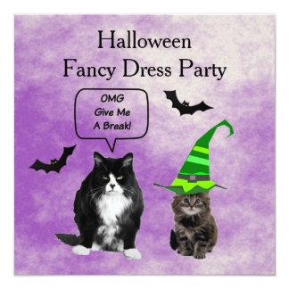 Grumpy Cat Halloween Fancy Dress Invitation