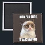 "Grumpy Cat - I had fun once Magnet<br><div class=""desc""></div>"