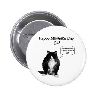 Grumpy Cat Mother's Day Round Pin Button