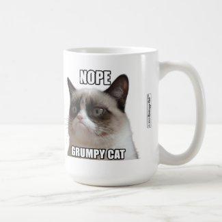 """Grumpy Cat Mug - NOPE. GRUMPY CAT"""""""