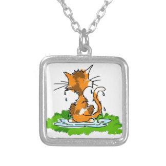 Grumpy Cat Square Pendant Necklace