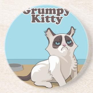 Grumpy cat sandstone coaster