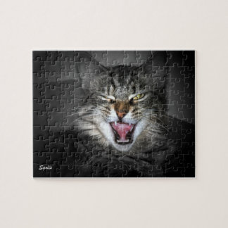 Grumpy Cat Snarling Puzzle Jigsaw Puzzle