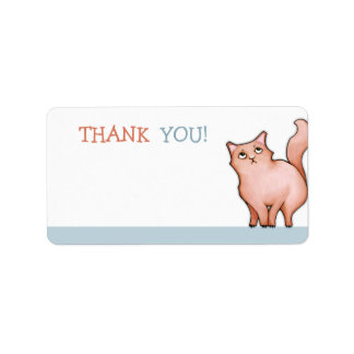 Grumpy Cat Sue blue Thank You Sticker