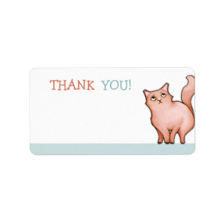 Grumpy Cat Sue green Thank You Sticker