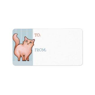 Grumpy Cat Sue stripes Gift Tag Sticker