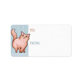 Grumpy Cat Sue stripes Gift Tag Sticker Label