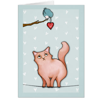Grumpy Cat Sulky Sue hearts Love Card