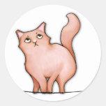 Grumpy Cat Sulky Sue Round Sticker