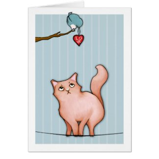 Grumpy Cat Sulky Sue stripes Love Card