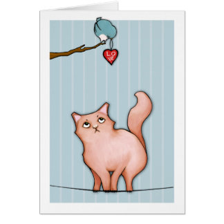 Grumpy Cat Sulky Sue stripes Love Card