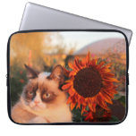 Grumpy Cat Sunflower Laptop Sleeve