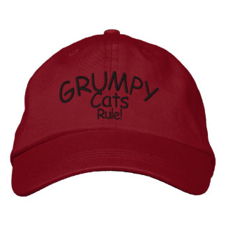 Grumpy Cats Embroidered Baseball Cap