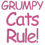 Grumpy Cats Rule! Embroidered Hoody
