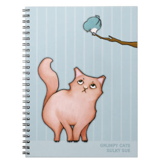 Grumpy Cats Sulky Sue stripes Notebook