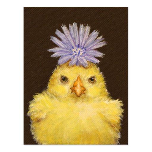 grumpy chicken (peep) postcard