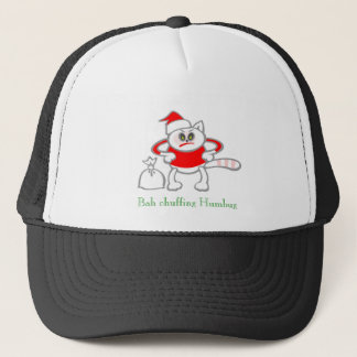 Grumpy Christmas Cat Design Trucker Hat