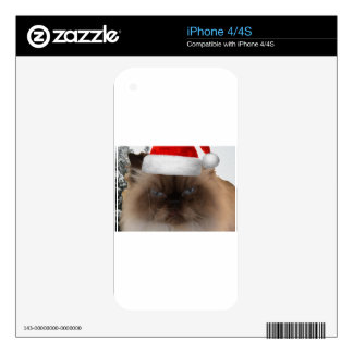 Grumpy Christmas Cat Skin For iPhone 4