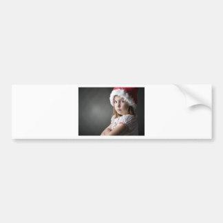 grumpy christmas elf car bumper sticker