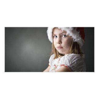 grumpy christmas elf photo card