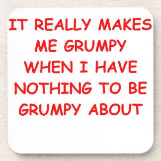 grumpy drink coaster