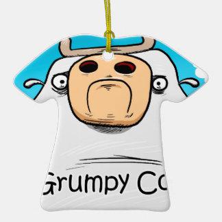 Grumpy Cow Ceramic T-Shirt Decoration