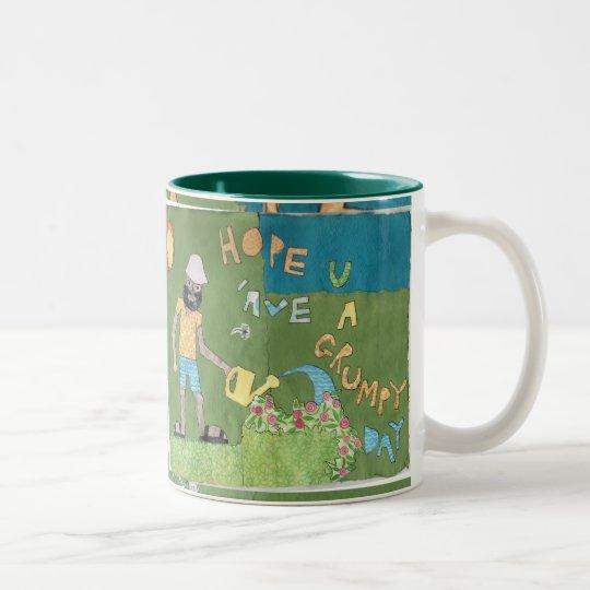 grumpy day Two-Tone coffee mug