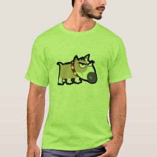 Grumpy Dog; Green T-Shirt