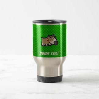 Grumpy Dog; Green Travel Mug