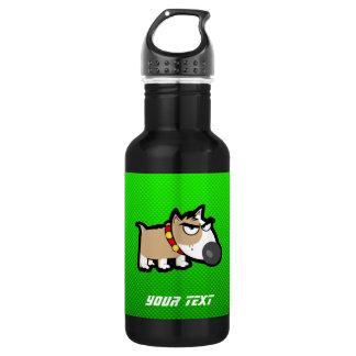 Grumpy Dog; Green Water Bottle